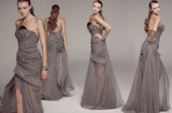 Checkered Gown
