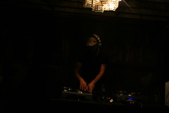 DJ CHAMPN SWN spinning upbeat, funky, eclectic tunes.