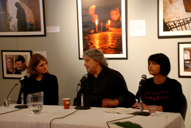 Christina Piovesan and Michel Khleifi film-making panel
